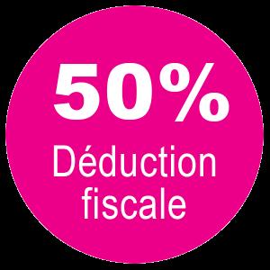 50% de déduction fiscale